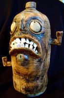 lowbrow face jug view 2 by thebigduluth
