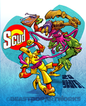 SCUD 20TH ANNIVERSARY colors by pop-monkey