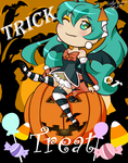 Halloween Hatsune Miku by PretentiousPink