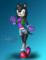 .:Violet Hedgehog:. by JesamineFey123