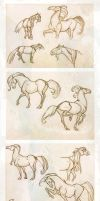 Horses_Wendling's style study by Spighy
