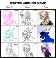 Switch Around Meme with Iffy and Saf by oofuchibioo