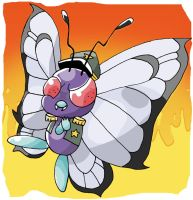 Evil Butterfree by Otterrific