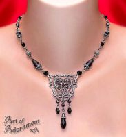 Nocturne Art Nouveau Necklace by Valerian