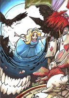 Alice In Wonderland sketch card by JakeMackessy