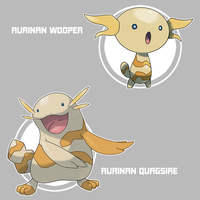 Aurinan Wooper and Quagsire by Marix20