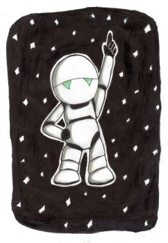 Paranoid Android (Towel Day 2017) by Scusa-chan42