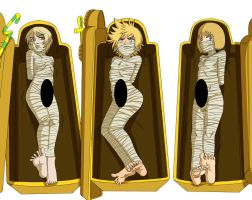 3 Blond Mummies: Mummification Peril by FreddyKreugerKen