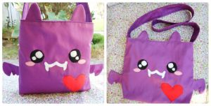 purple Bat bag by akirepower