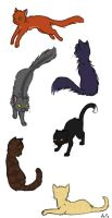 Warriors cat-style by AnnMY