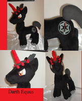 Darth Equus Pony Plush by Drachefrau
