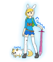 Fionna and Cake by li-Fae