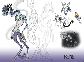 character sheet - rene by Duckstapler