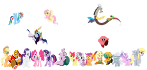 Kirby and MLP unite! by xXTuff-PegasisterXx