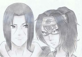 Shizako and Itachi by Anime019se