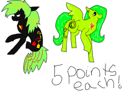 5 point ponys OPEN by CCMacoroniAdoptables