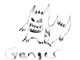Drawing Pokemon evil Genger by Phuong09