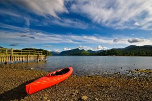 Red Canoe Abandoned by Lightfoot11