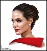 Angelina Jolie by sahabiha