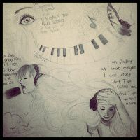 Sketch of Paramore songs by Cate397