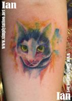 Water colour cat by SimplyTattoo