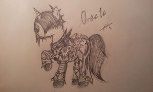 Pony Oracle in Fury Shaiya's Treffers Armor by fiendaffliction