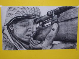 Snipper, Saving Private Ryan by orearfarm