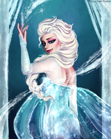 - Queen Elsa - Frozen - by PencilPaperPassion