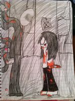 Jeff the Killer meets SlenderMan by ShinySmeargle