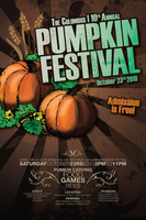 Pumpkin Festival Poster 1 by JustMarDesign