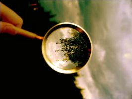 world in magnifier by kas666