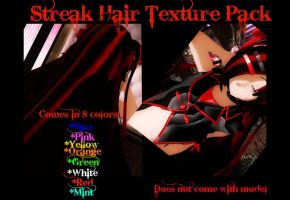 MMD Streak Hair texture pack by Jasethra