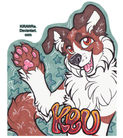 Keu Con Badge by KiRAWRa
