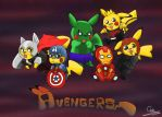 Pika avengers by ConceivedRaptor