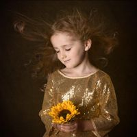 sunflower girl by monikha