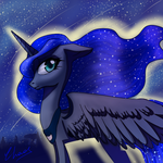 Sketch - Luna in the night by ChaosAngelDesu