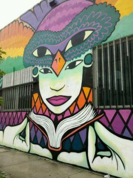 Kazilla wall in Wynwood Miami by kazilla