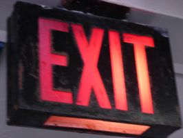 NY neon exit sign by LL-stock