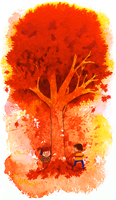 Run Around the Autumn Tree by matildarose
