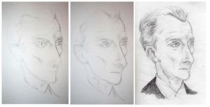 Peter Cushing as Holmes by elina-elsu