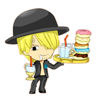 Wonderland Tea Party ~ Sanji by SuperMuffin92