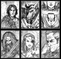 Ravenloft portraits 1 by Everwho