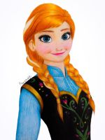 Frozen Anna with Colored Pencils + Drawing Video by Amana-Jackson
