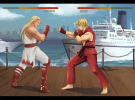 street fighter x Fatal fury (commission) by Precia-T