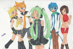 Vocaloid Characters - Colored by pinkkittypower