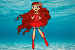Red Pearl Voice! Zoey Idol (Mermaid Melody) by AlexRedfieldTD