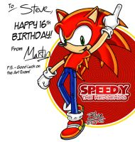 Speedy B-day by Blue-the-Echidna