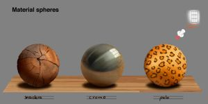 Material spheres by Lia-Snow
