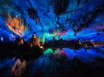 Reed Flute Cave - China by Detrucci