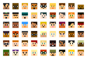 Total Drama Minecraft Icons by henryca03